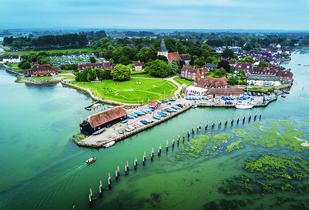 Bosham in Chichester Harbour, where oysters have been found to contain microplastics