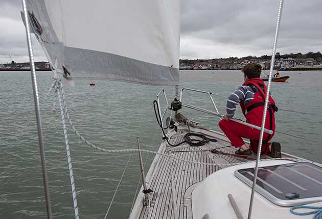 Mooring under sail, wind against tide, will give you a good feel for the various forces acting on the boat