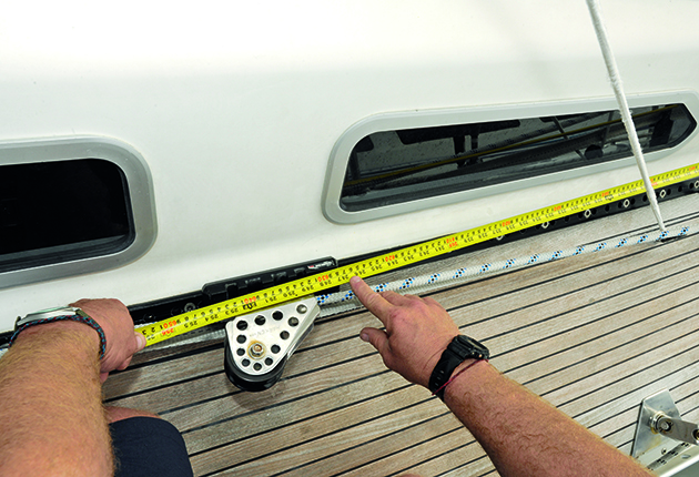 Boar rig checks: Check your genoa car reference points by measuring from the genoa tack or bow
