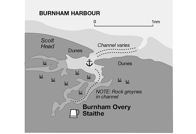 a pilotage chart of Burnham Harbour