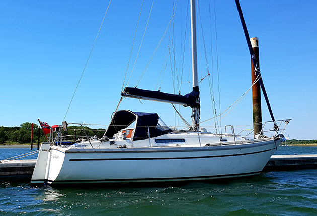 A Sadler 29 which has electric propulsion installed