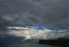 What would you do if you were sailing towards cumulonimbus clouds?