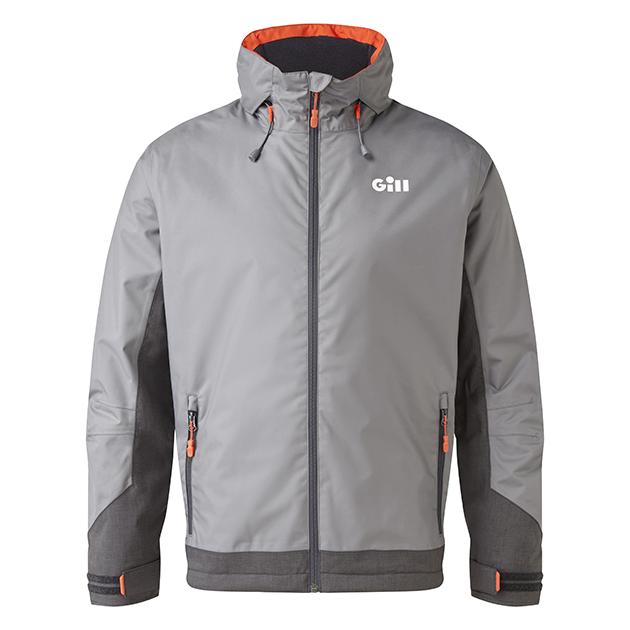Gill Kenton, steel grey pilot jacket