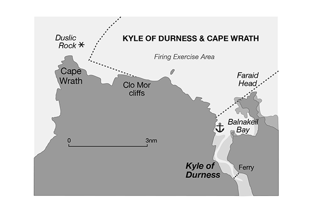 Pilotage chart of Kyle of Durness in Scotland