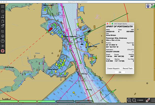 OpenCPN offers clear, easy-to-use chartplotting and navigation functions.
