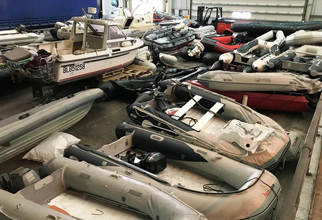 Some of the boats seized by the National Crime Agency