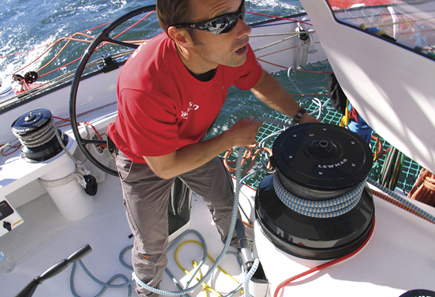 Though super-strong modern ropes are ideal on race boats, their deck gear is set up to handle loads it will be working under