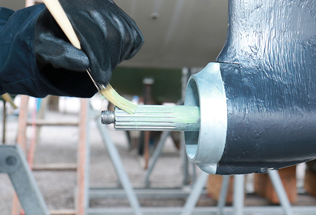 Make sure you oil your stern gear during a service