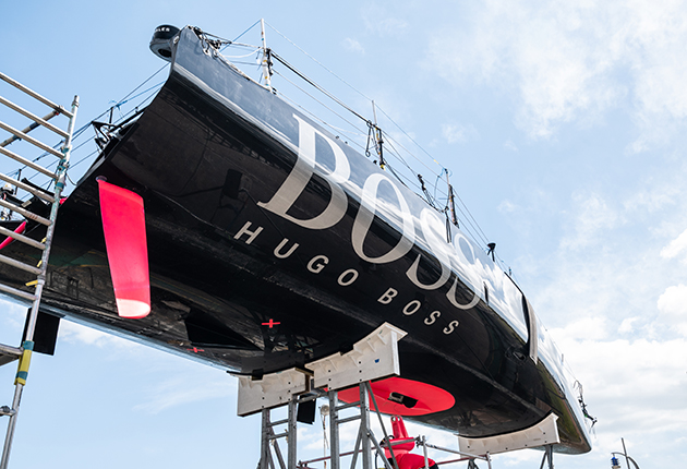 HUGO BOSS from the air - Alex Thomson will be racing in the Fastnet Race