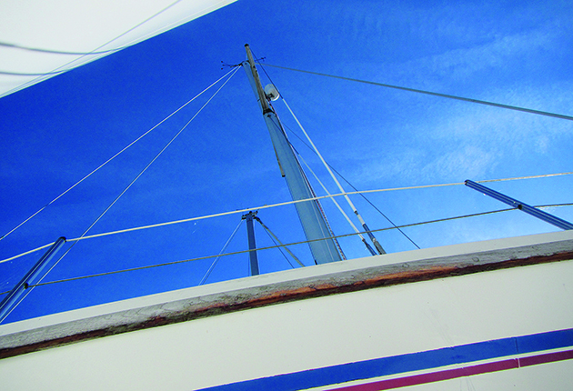 Check the mast and stanchions look straight when looking at a boat to buy