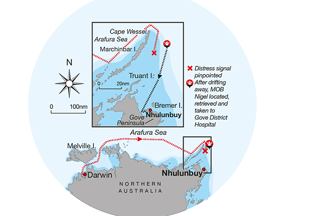 A chart showing Northern Australia