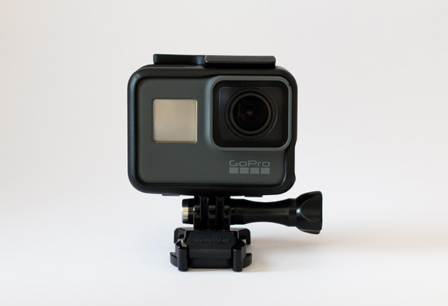 GoPro Hero 5 Black 4K action isolated against a white background