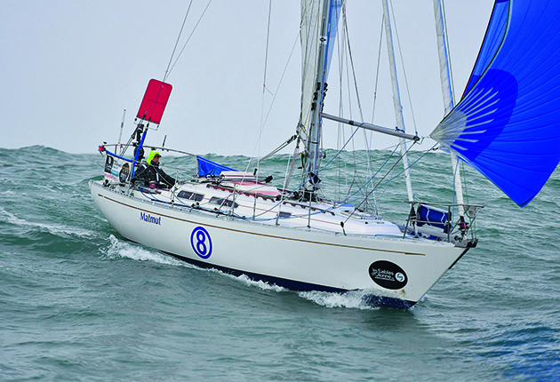 Sailing in the Golden Globe Race, Jean Luc van de Heede removed 1.5m from his Rustler 36's mast height as he knew he would no need the sail area for sailing in a Breeze