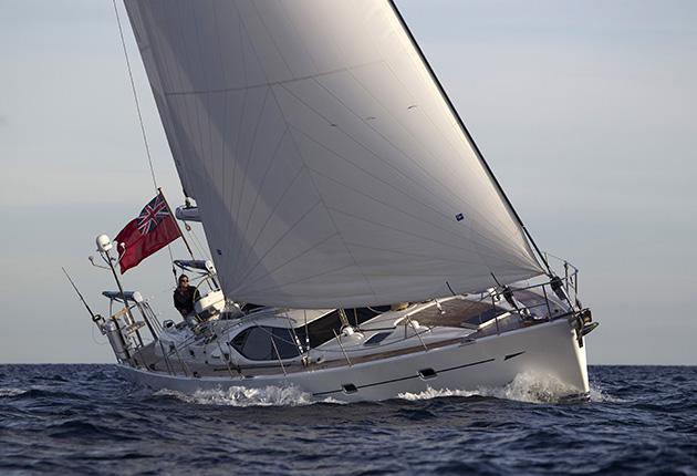 A boat sailing to leeward