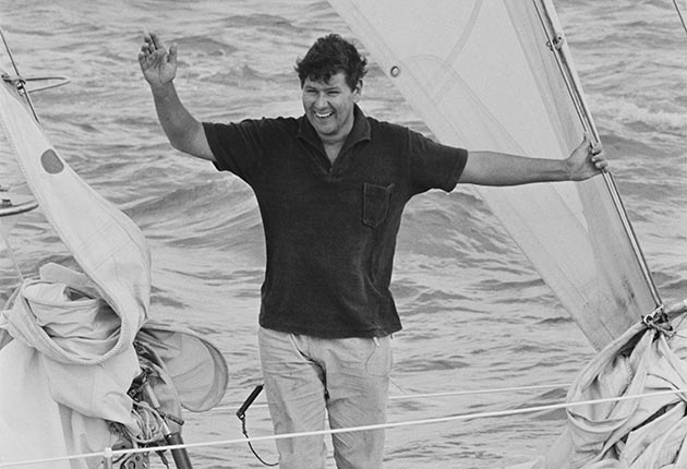 Scottish yachtsman Chay Blyth arrives home in his ketch 'British Steel', after becoming the first person to circumnavigate the globe single-handed in a westward direction, UK, 6th August 1971
