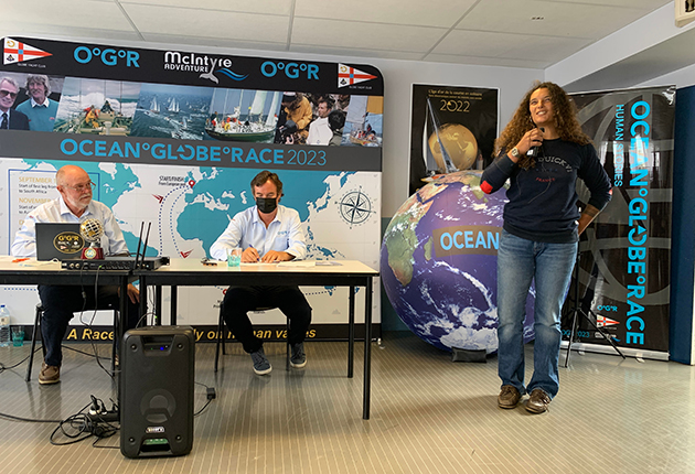 Marie Tabarly, daughter of Eric, announces that Pen Duick VI will be competing in the Ocean Globe Race