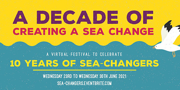 Sea Changers flyer advertising its 10th anniversary festival