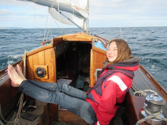 Katie McCabe aboard Falanda