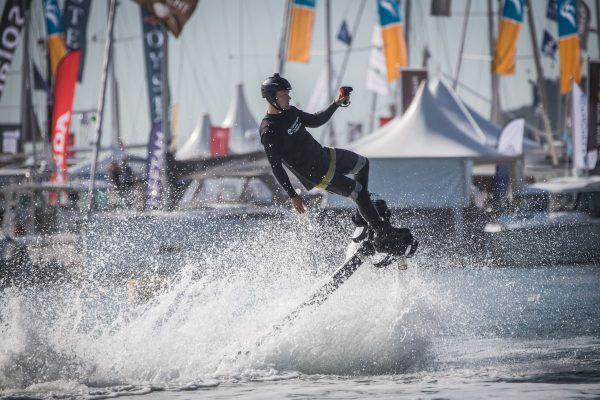 Southampton International Boat Show on the water stunts