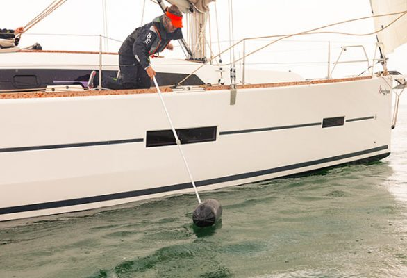 The humble fender and bucket, used to simulate a man overboard, is surprisingly effective in revealing things about your boat handling, leadership and decision-making skills. Credit: David Harding