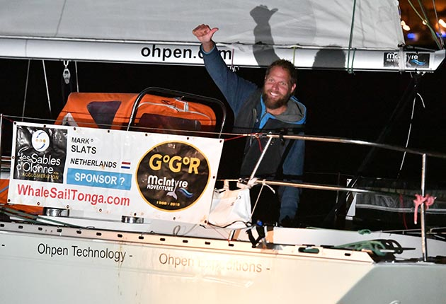 Mark Slats made good use of hf radio and the Ham net during the 2018 Golden Globe Race