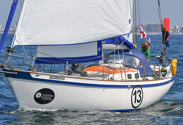 Prior to the 2018 Golden Golden Globe Race, Sagarmatha was owned by the race founder Don McIntyre and called Silver Heels. Credit: Christophe Favreau/PPL/GGR