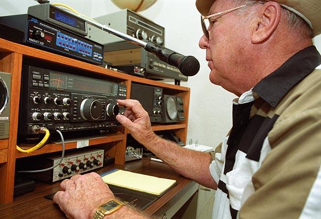 A man using HF radio