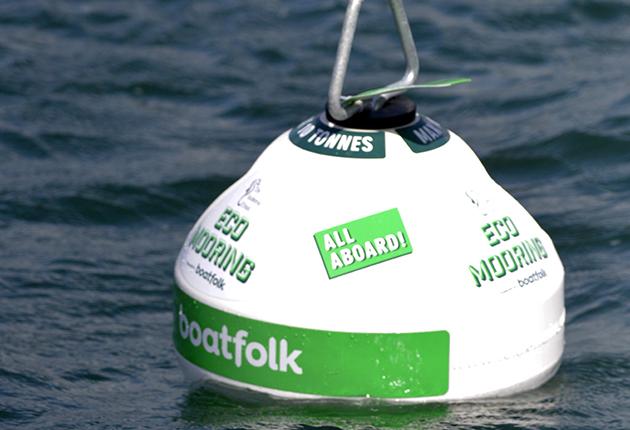 Eco mooring at Studland Bay