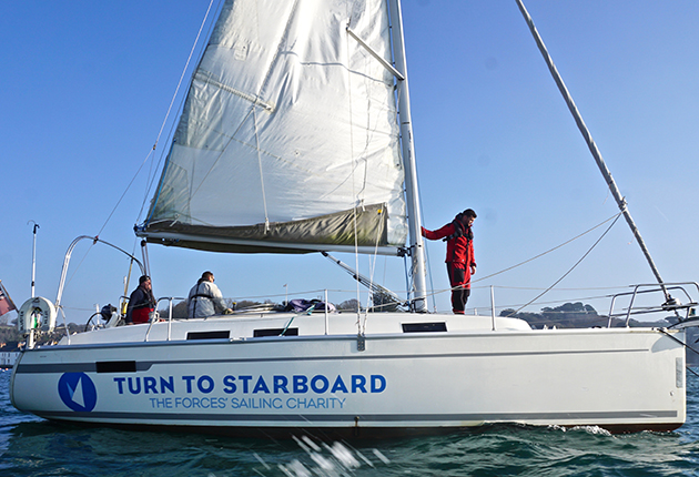 A crew on one of the yachts belonging to Turn to Starboard, the UK veterans charity