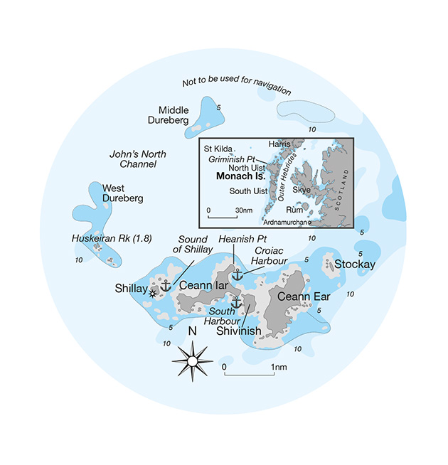 Chart of the Monach Islands
