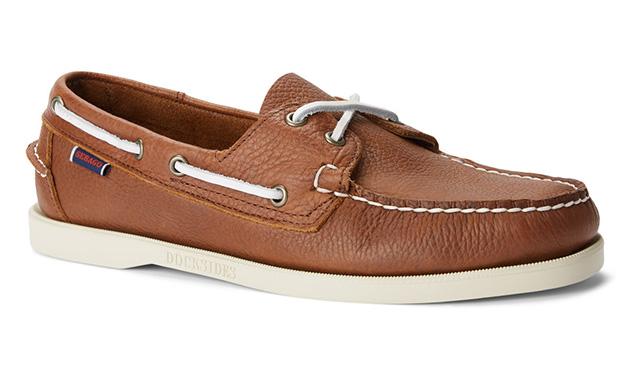 A Seabago deck shoe in brown