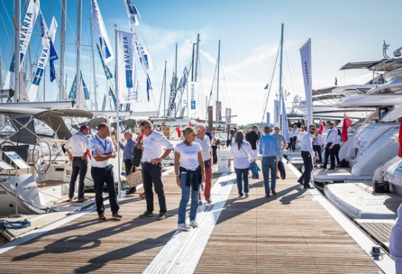 The marina at the show will host over 300 boats
