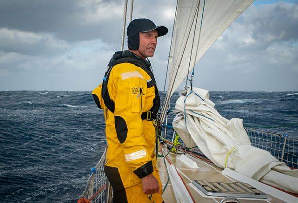 Guy Waites has around 100,000 miles of sailing experience. Credit: Maeva Bardy