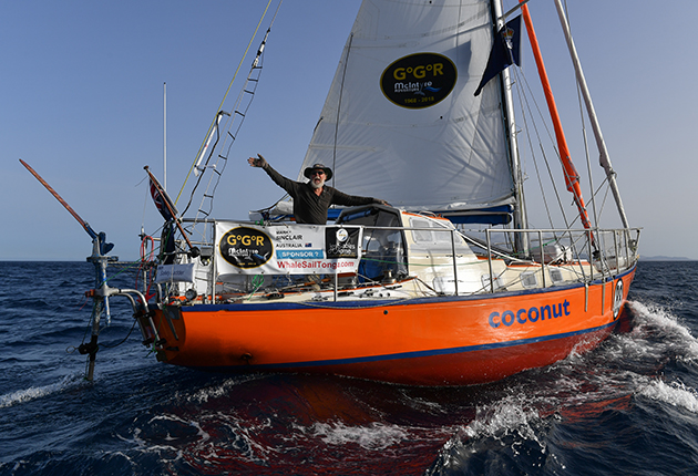 Mark Sinclair made it as far as Australia in the last race, arriving after 157 days at sea. Credit: Christophe Favreau/PPL/GGR