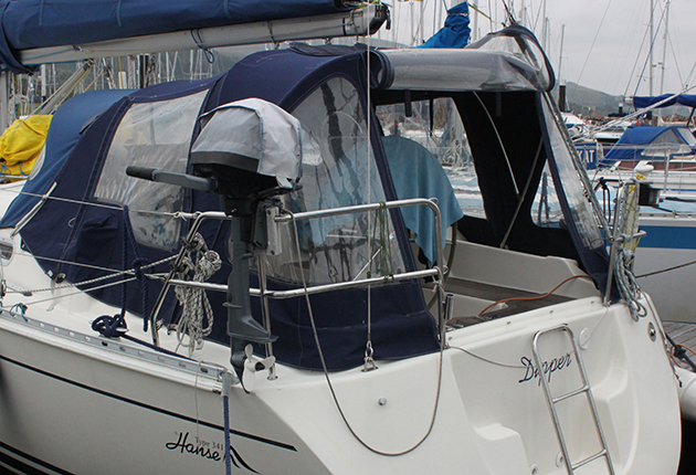 A cockpit tend can help keep condensation out of the boat