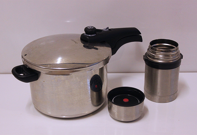 Using a pressure cooker can help reduce steam while cooking