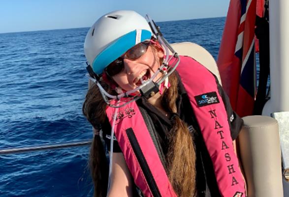 Natasha Lambert started sailing when she was nine. Credit: Lambert family