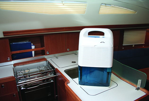 A dehumidifier on board can help keep condensation at bay