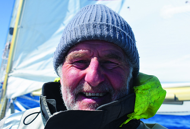 Tony Curphey was 74 when he completed the Longue Route. leaving and returning to Emsworth