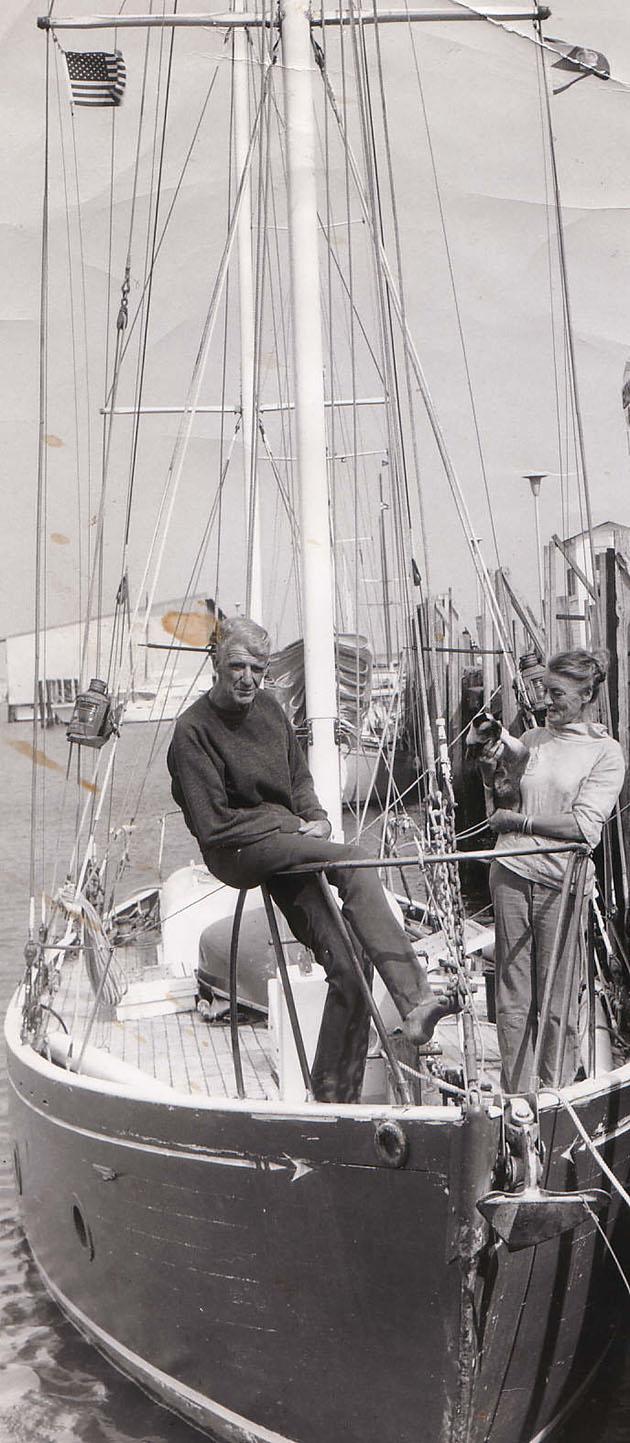 Beryl and Miles Smeeton aboard Tzu Hang