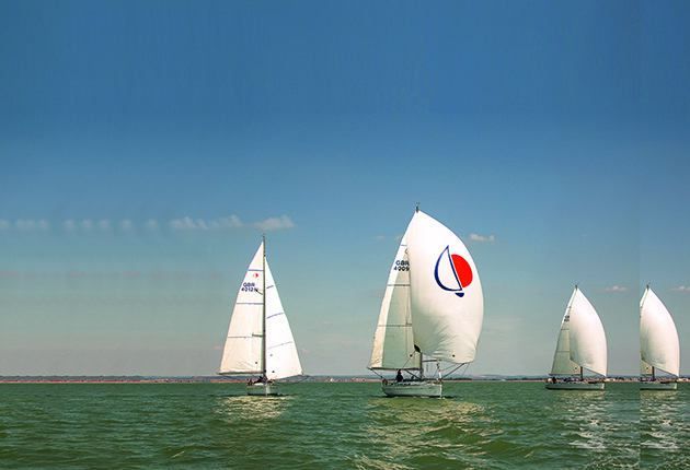 There are a range of spinnakers for downwind sailing