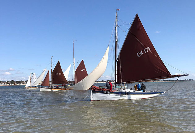 Dredging under sail is all about controlling boat speed