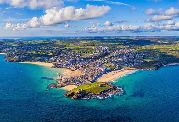 St Ives is a drying harbour; there is a sheltered anchorage to the south. If you want to escape the crowds, head further south to Carbis Bay. Credit: Robert Harding/Alamy
