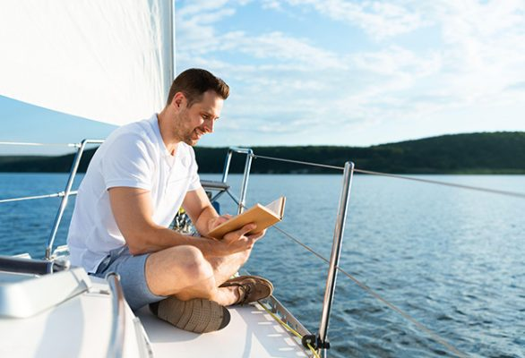 Drop the hook, turn off the mobile and immerse yourself in a book in the very location that inspired the author. Credit: Alamy Stock Photo