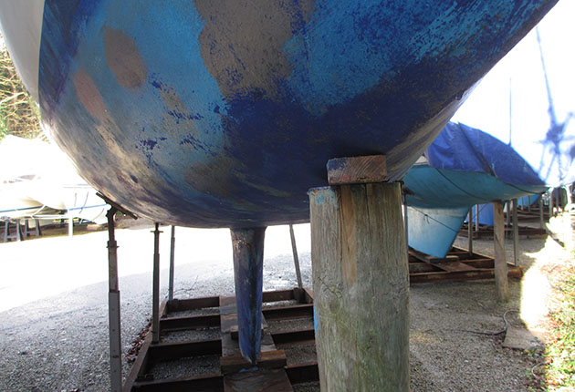 The Westerly Fulmar has a flattened section aft of the bow
