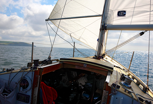 When downwind sailing, A poled-out hedsail needs a pole downhaul to control the leach of the sail.