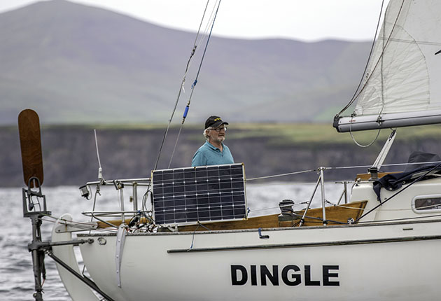 Pat Lawless arriving in Ireland after sailing to The Azores and back