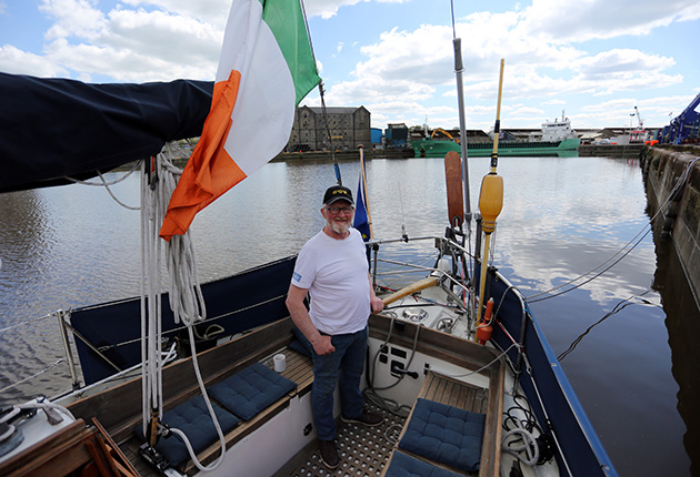 Pat Lawless on his boat