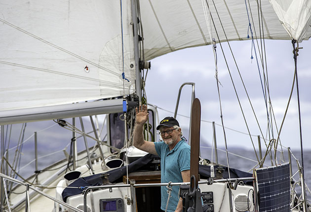 Pat Lawless on his yacht