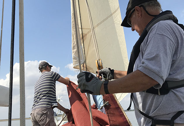 With endless sails to set on an oyster smack, there is plenty of work for the crew